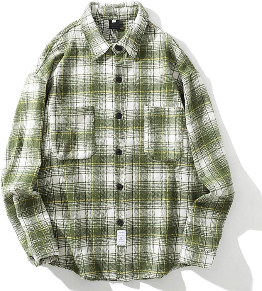 XZYP Vintage Hombres Franela Camisas A Cuadros Camisa Casual para Hombres De Lana para Hombre Camisas,Turquoise,M: Amazon.es: Hogar