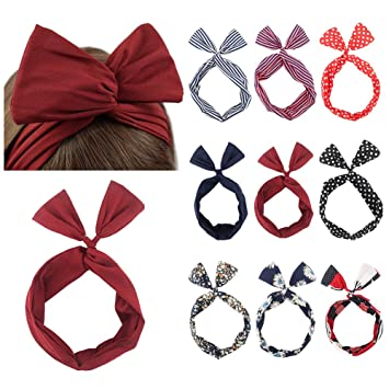 Ribbon Tie Bow Bendy Wire Wired Hair Scarf Head Wrap Band Hair Accessories