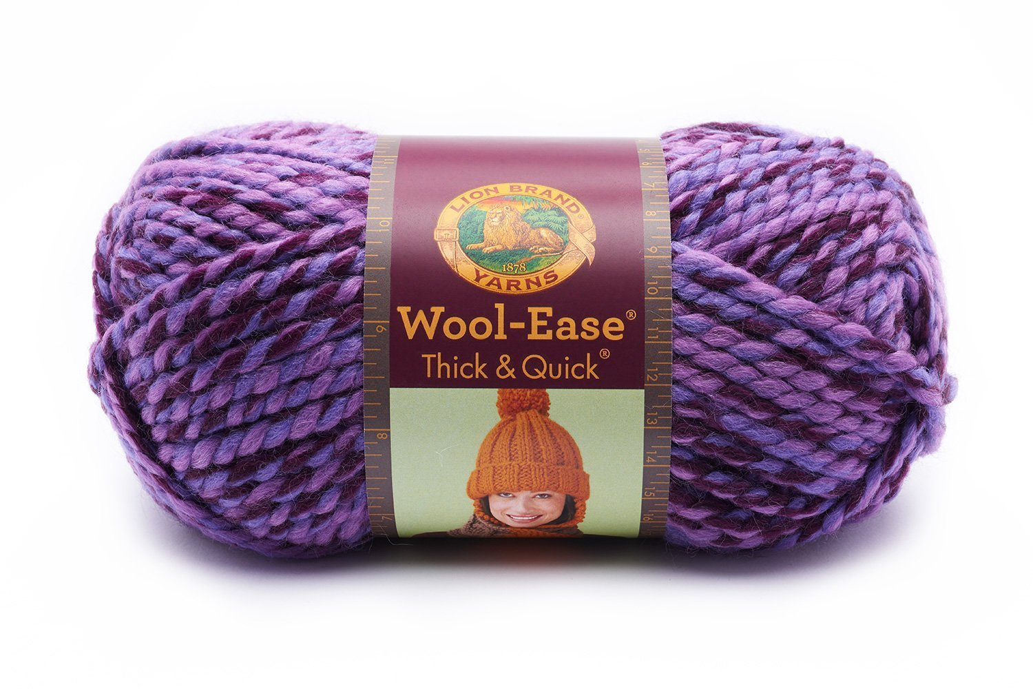 Lion Brand Yarn Wool-Ease Thick and Quick Yarn, (6-Pack), Grape by Lion Brand (Image #2)