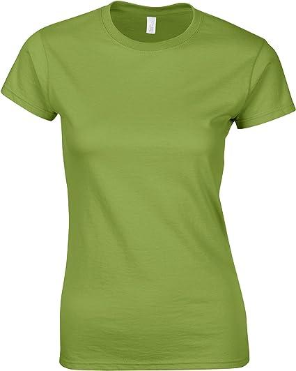 GILDAN GD072 - Camiseta de manga corta para mujer Verde Kiwi XXL: Amazon.es: Ropa y accesorios