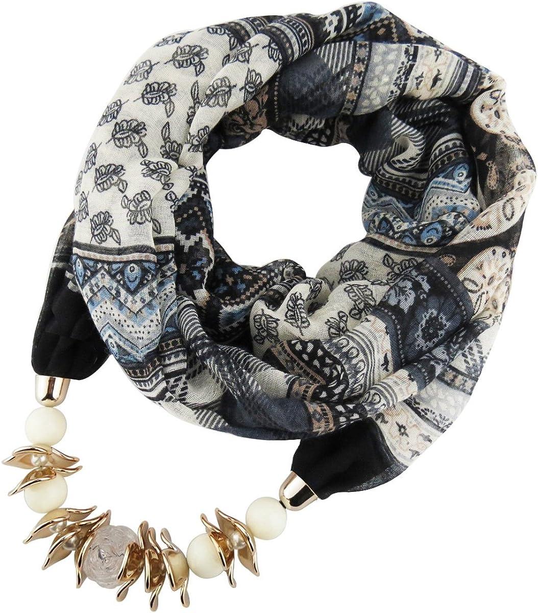 Paragon Donna Moda Sciarpa Lunga con Ciondolo Gioielli Collane Retro Circle Sciarpa
