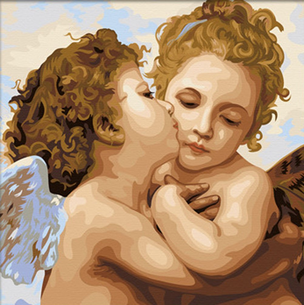 Greek Art Paintworksペイントカラーby Numberキット  Angel Kiss B00Z9NJJGO