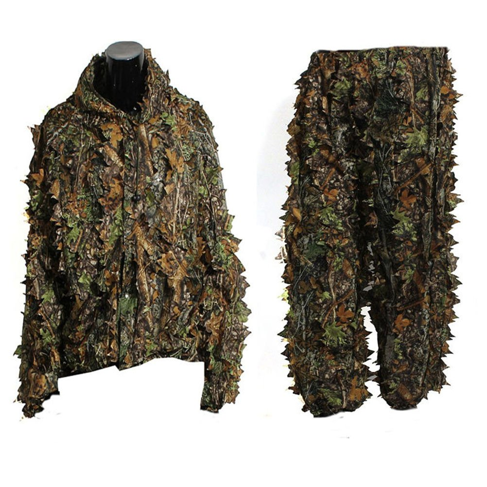 VORCOOL Suits Camouflage Feuille Ghillie Suit Woodland Camo Tenue de camouflage jungle 3D Hunting Chasse