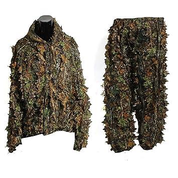 Tinksky Ropa de Camuflaje 3D Hoja Camuflaje Pantalones Chaqueta de Caza: Amazon.es: Deportes y aire libre