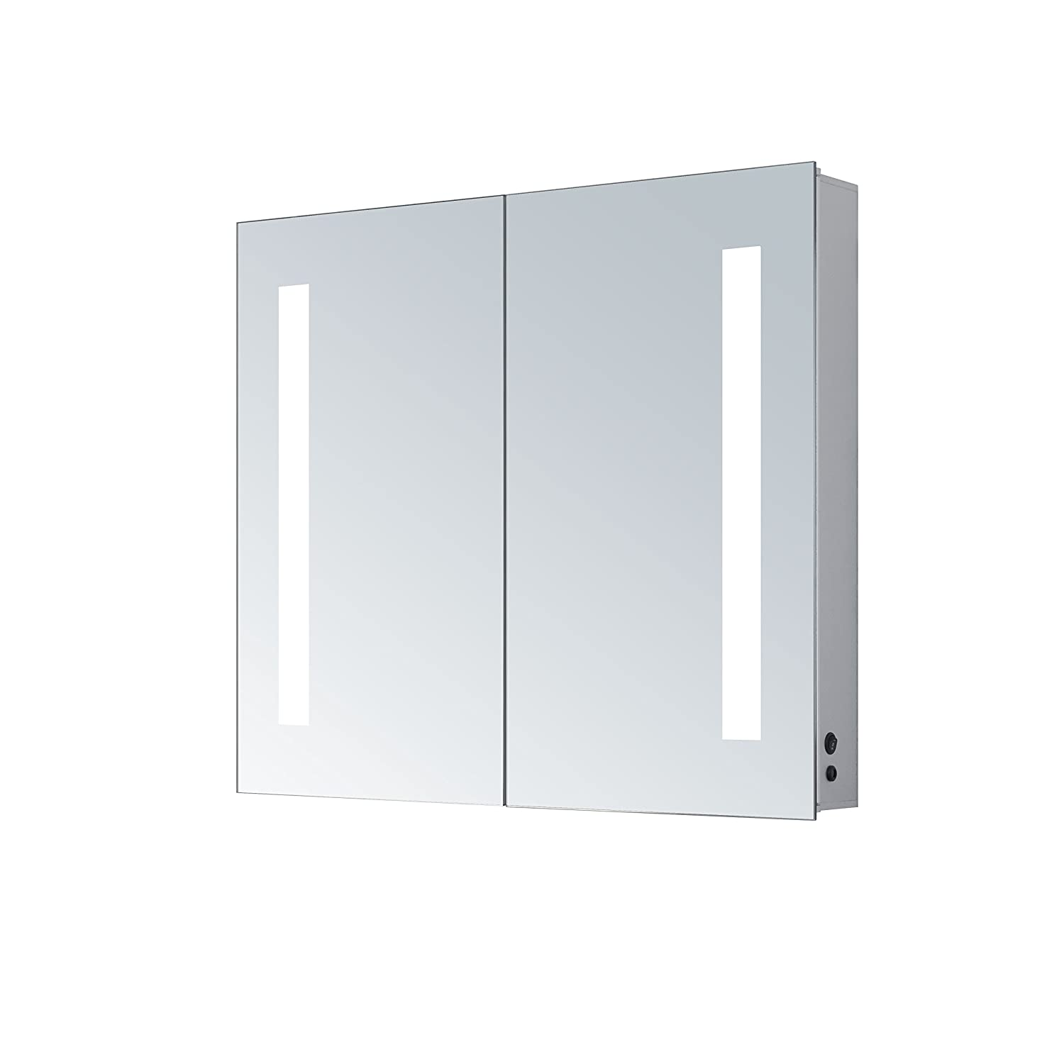 Amazon Com Innoci Usa Zeus Led Double Door Wall Mount Mirrored