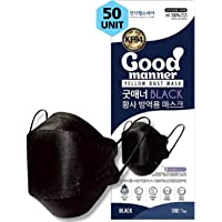 (50 Count) BLACK KF94 Certified Protective Face Safety Mask, For Adults and Older Children, Individually Packaged, Made…