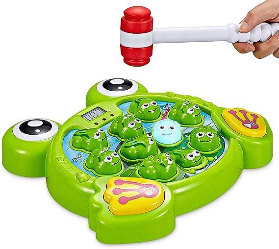 Think Gizmos Golpe a una Rana Interactivo TG702 - Regalo Divertido para los Niños y Niñas Que Tienen 3 4 5 6 7 8 años: Amazon.es: Juguetes y juegos