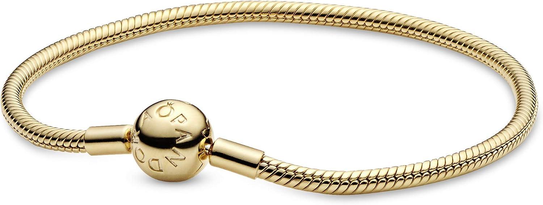 """PANDORA Jewelry Snake Chain Shine Bracelet, 7.5"""": Jewelry"""