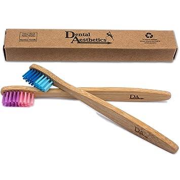 Cepillo Dental de Bambú para Niños ~ Degradado de Color Rosado & Azul ~ Ecológico Biodegradable