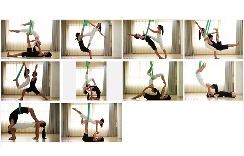 WKLCF Yoga H/ängematte Aerial Anti-Gravity-Schwingen H/ängetuch Joga Rutschfeste Hammock Air Fliegen Belastung 300kg Yoga Set
