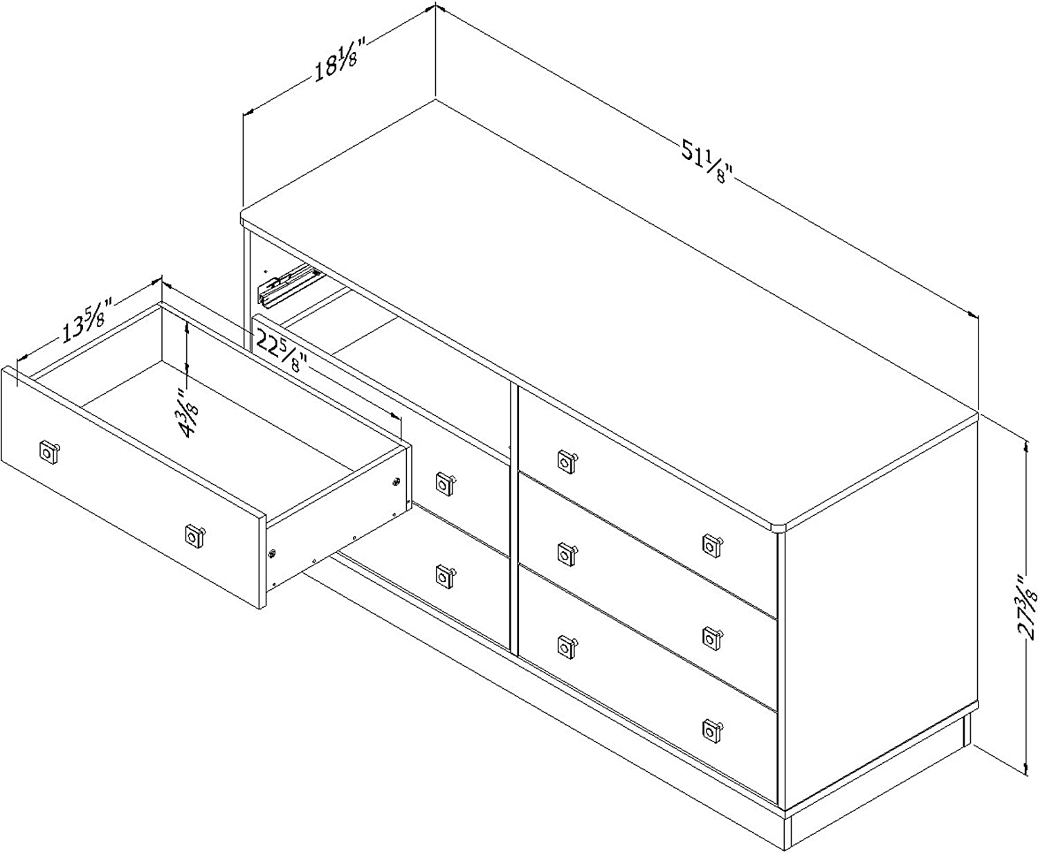 south shore logik 6 drawer double dresser pure white and pink pure white pink furniture. Black Bedroom Furniture Sets. Home Design Ideas