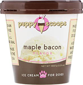 Puppy Scoops Ice Cream Mix for Dogs: Maple Bacon - Add Water and Freeze at Home