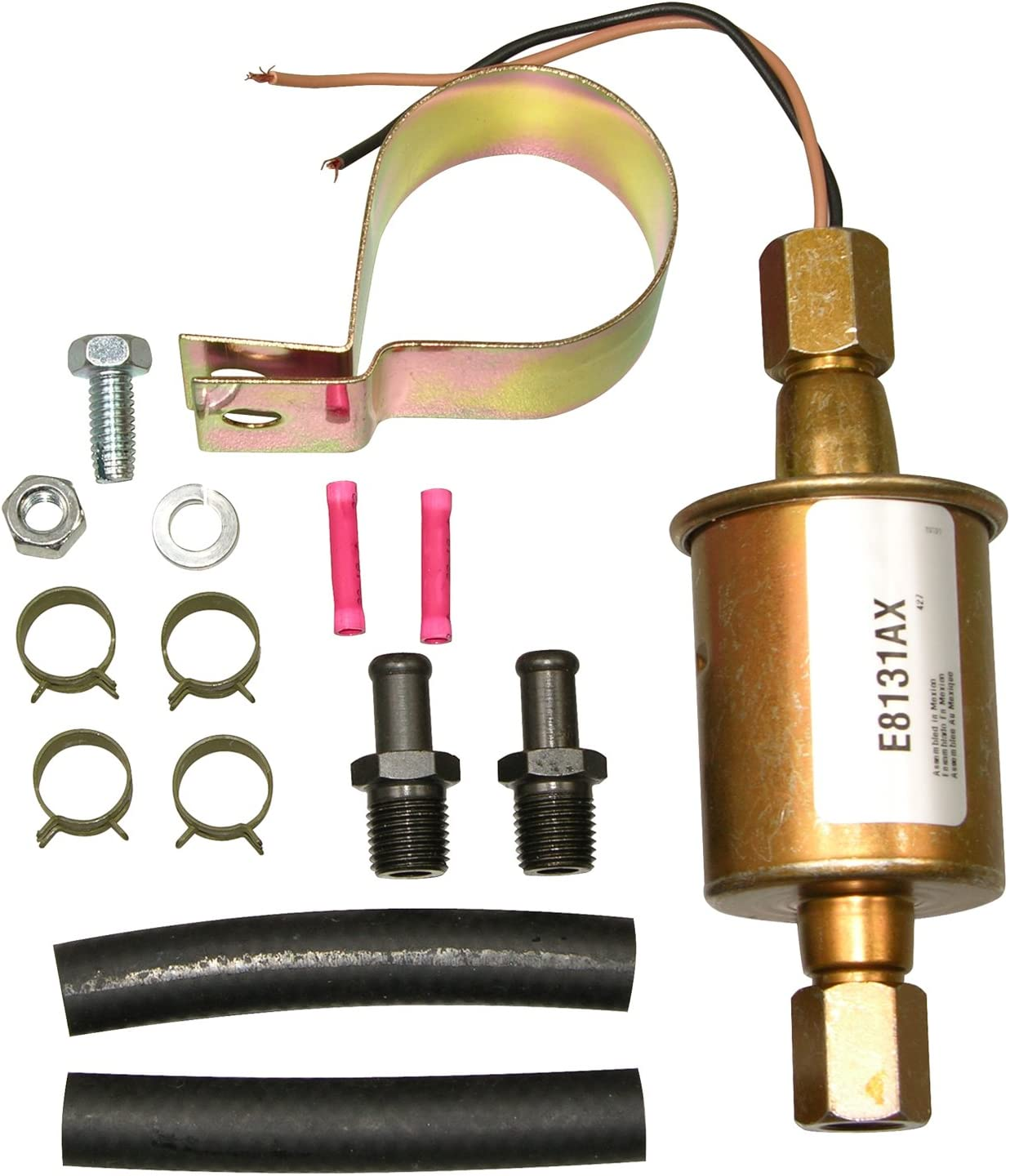 Amazon Com Airtex E8131 Universal Electric Fuel Pump Cadmium Gold Automotive