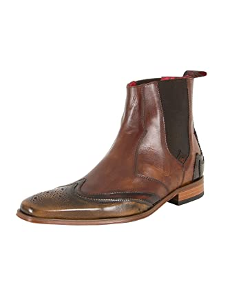 Jeffery West Homme Polished Shoes, Marron