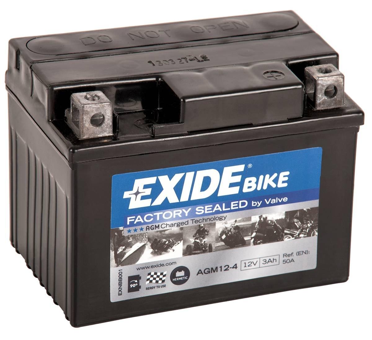 /4/Exide bater/ía de 12/V para Motocicleta agm12/ 4908
