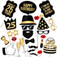 25th Birthday Photo Booth Props Fabulous Forty Party Decoration Supplies For Him Her Funny