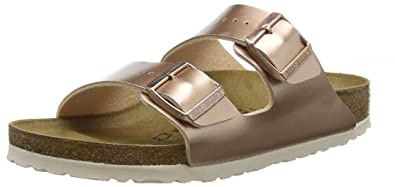 BIRKENSTOCK Damen Arizona Sandalen, Braun Electric Metallic