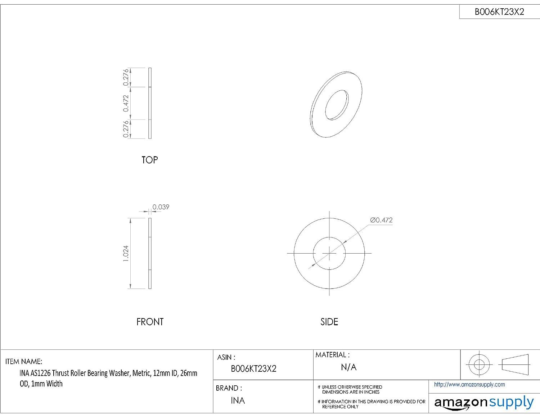 "KOYO TRA3244 Imperial Thrust Washer 2/"" x 2-3//4/"" x 1//32/"""