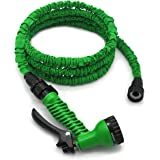 Garden Hose, 25 Feet, Water Hose, Expandable Hose, Expandable Garden Hose, with Free 7-way Spray Nozzle, Rust-free, Watering Hose, Flexible Hose(Green) by Freehawk
