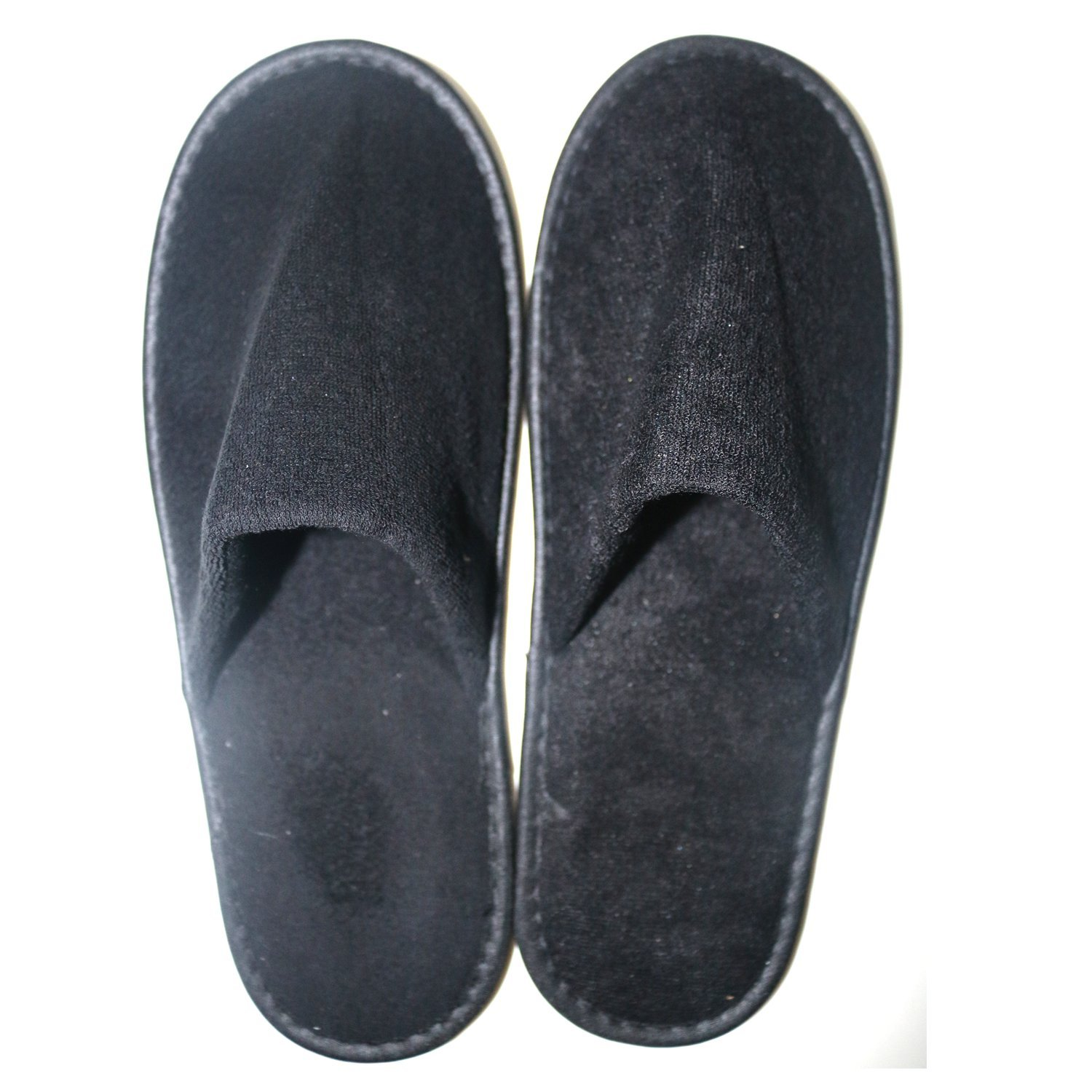5 Pairs Disposable Slippers - Toweling Disposable Non-Skid Slippers Great for Spa Guest