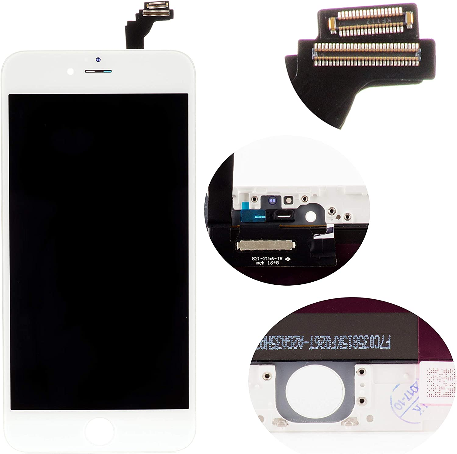 Front Glass LCD Screen Replacement Digitizer Assembly Frame Full Set Display Touchscreen for iPhone 6 Plus 5.5 Inches White