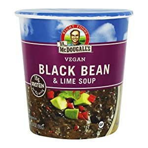 Dr McDougalls Right Foods Black Bean and Lime Big Cup Soup, 3.4 Ounce - 6 per case.
