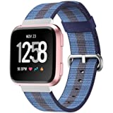 Ausexy for Fitbit Versa Bands, Lightweight Nylon Fashion Adjustable Replacement Wristband Fitness Sport Strap Accessories Bracelet for Fitbit Versa