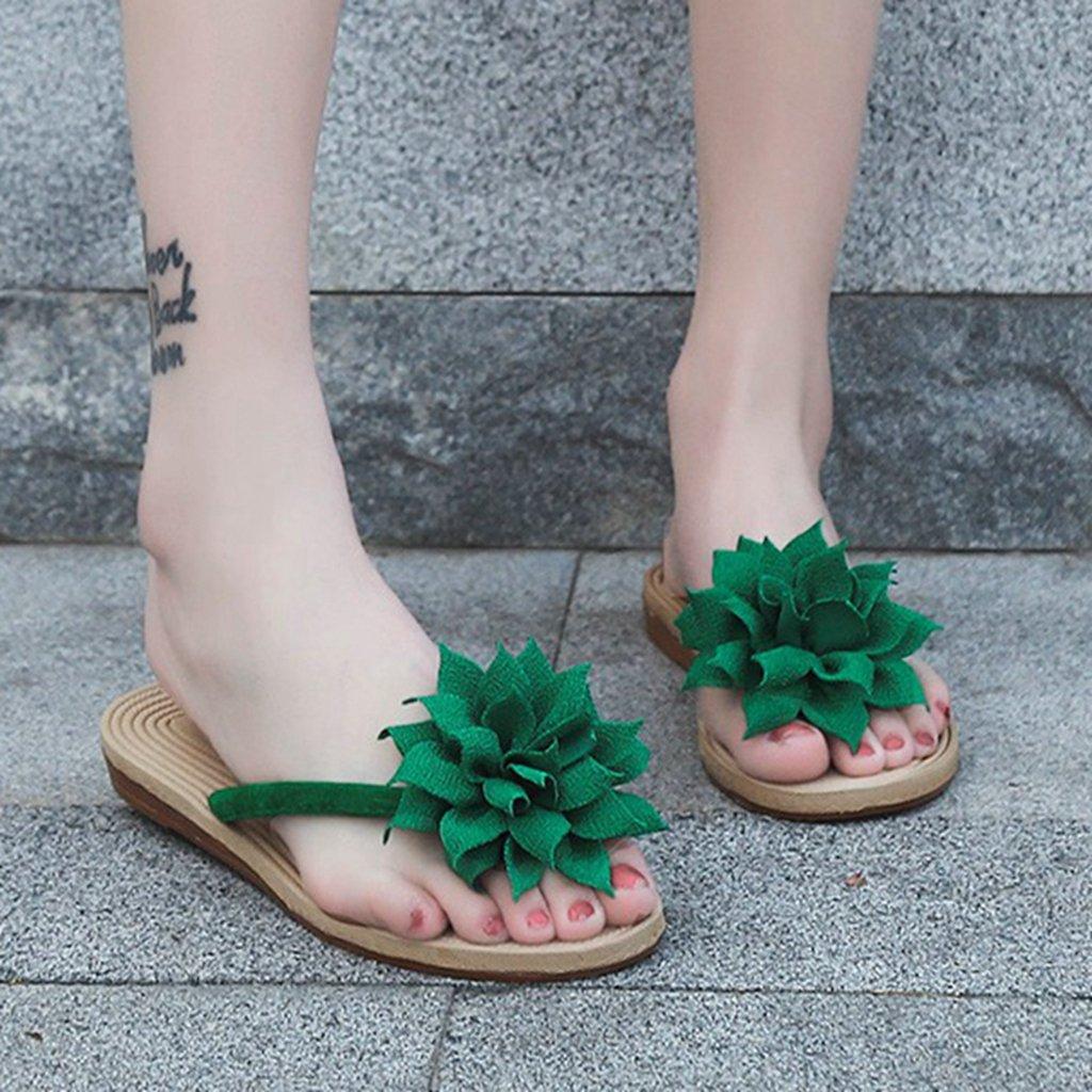 GIY Womens Ladies Flip Flops Slippers Anti-Slip Slip On Dressy Thongs Summer Beach Casual Flat Sandals by GIY (Image #5)