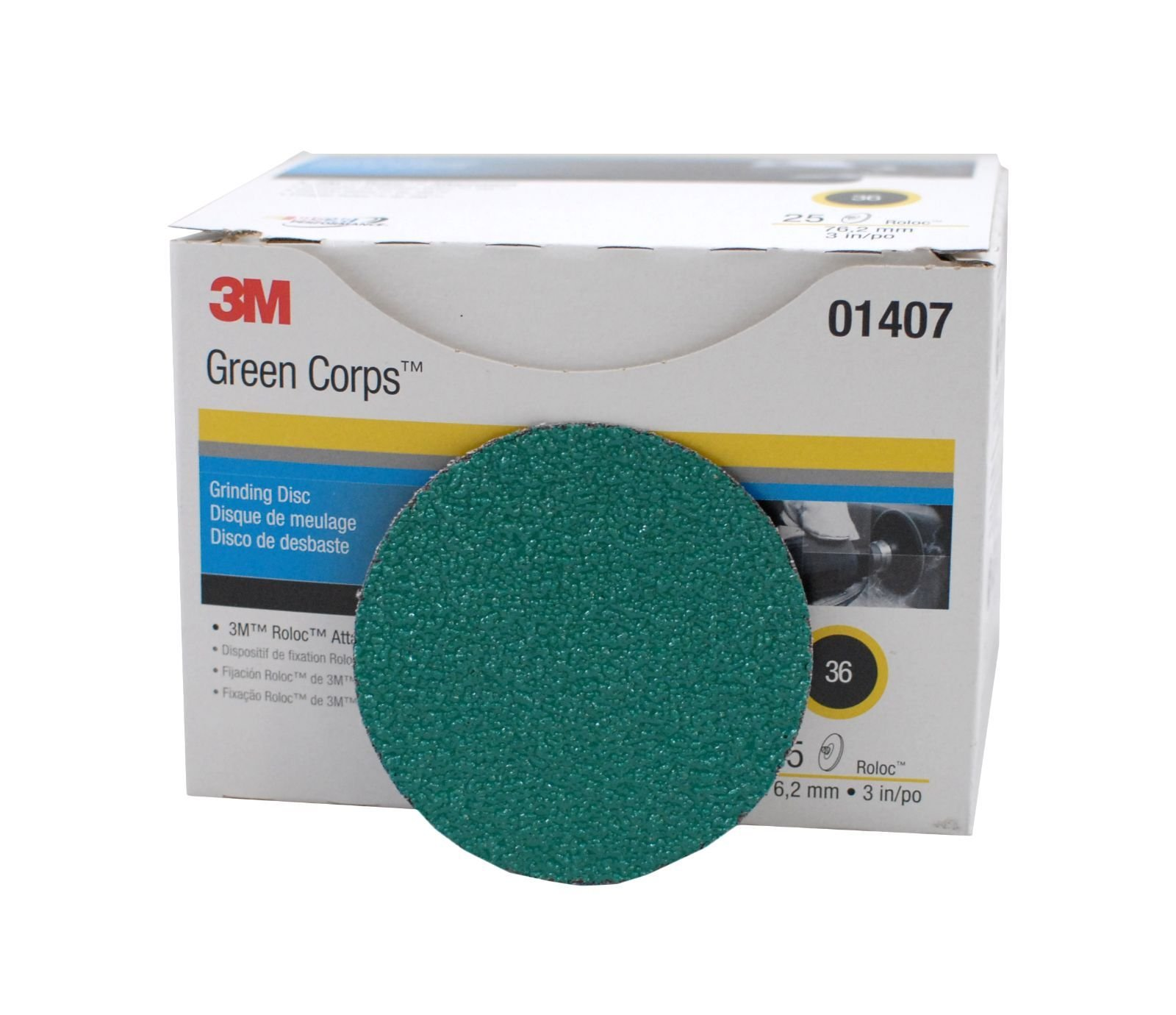 3'' Roloc 36 Grit Grinding Discs _ 25 Pk. Brown by 3M