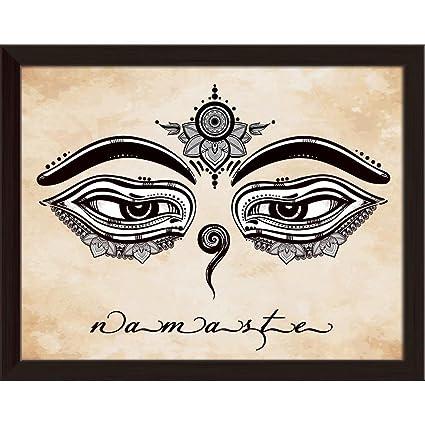 Artzfolio Eyes Of Buddha Symbol Of Wisdom Enlightenment 1 Canvas