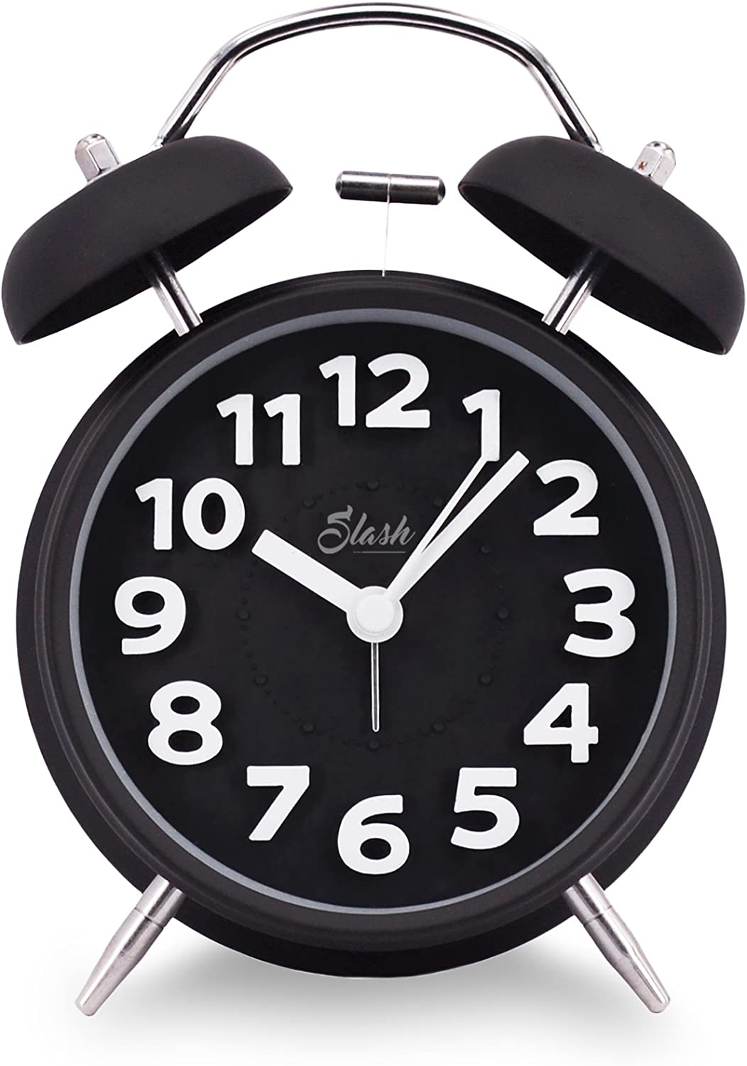 Vintage Retro Old Fashion Quiet Non-ticking Analog Alarm Clock Battery Operated
