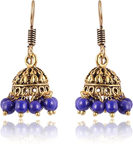 Subharpit Gold Non-Precious Metal Jhumki Earrings for Women /& Girls