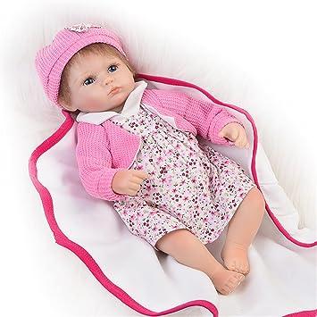 Amazon.es: Muñeca realista de bebé reborn de 43 cm para bebés y ...