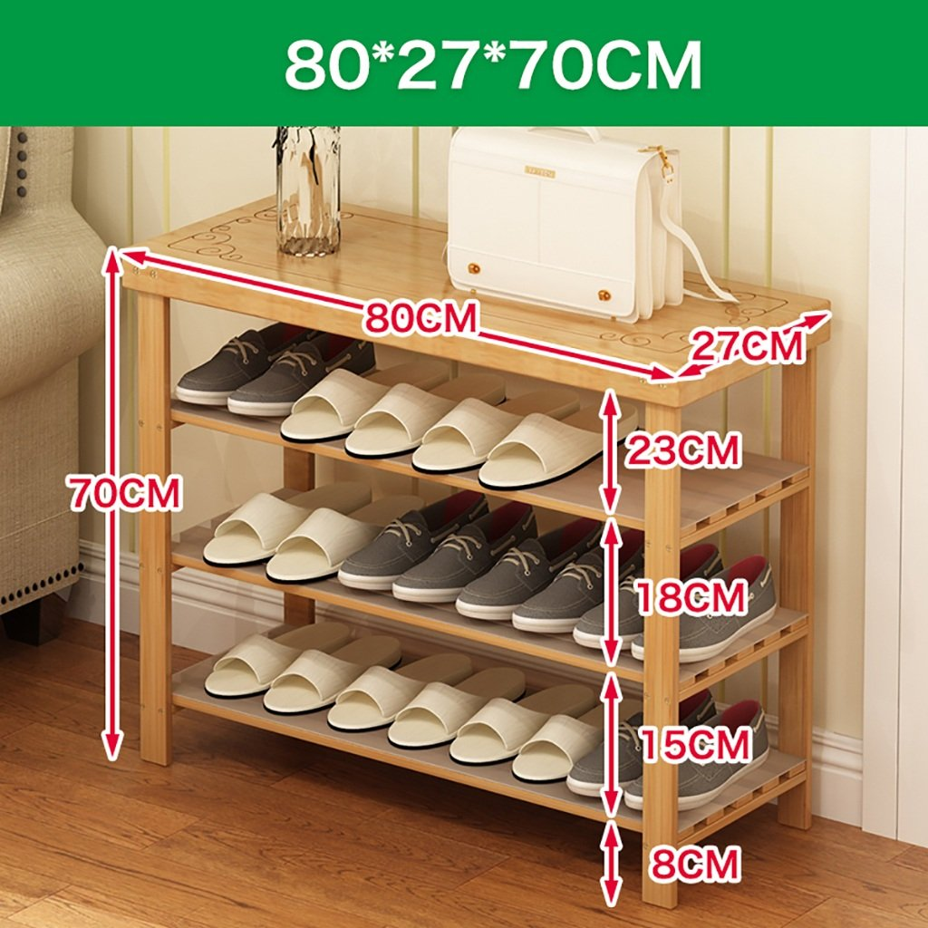 80 cm shoes Bench Organizing Rack Natural Bamboo shoes Racks, Bench Chairs, Floor shoes, Assembly shoes Storage Rack