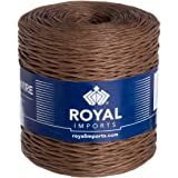Brown Floral Bind Wire Wrap Twine, Paper Covered Waterproof Rustic Vine for Flower Bouquets 26 Gauge (673 Ft) by Royal Import