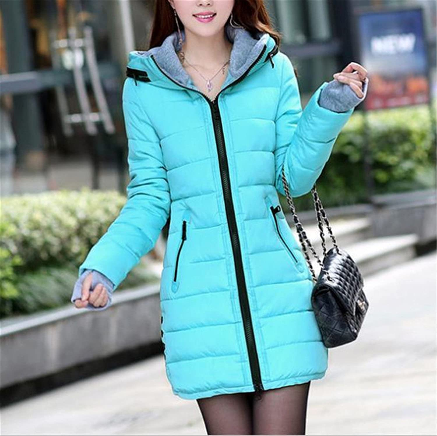 Amazon.com: Dapengzhu New Winter Jacket Women Parka With Gloves Cotton Maxi Wadded Jackets Coats Plus Size Long Jacket C2261 Dark Green XXXL: Clothing