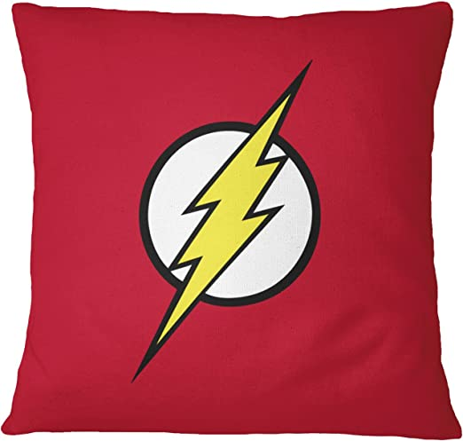 LaMAGLIERIA Cojín Decorativo Flash Logo - Almohada de algodón ...