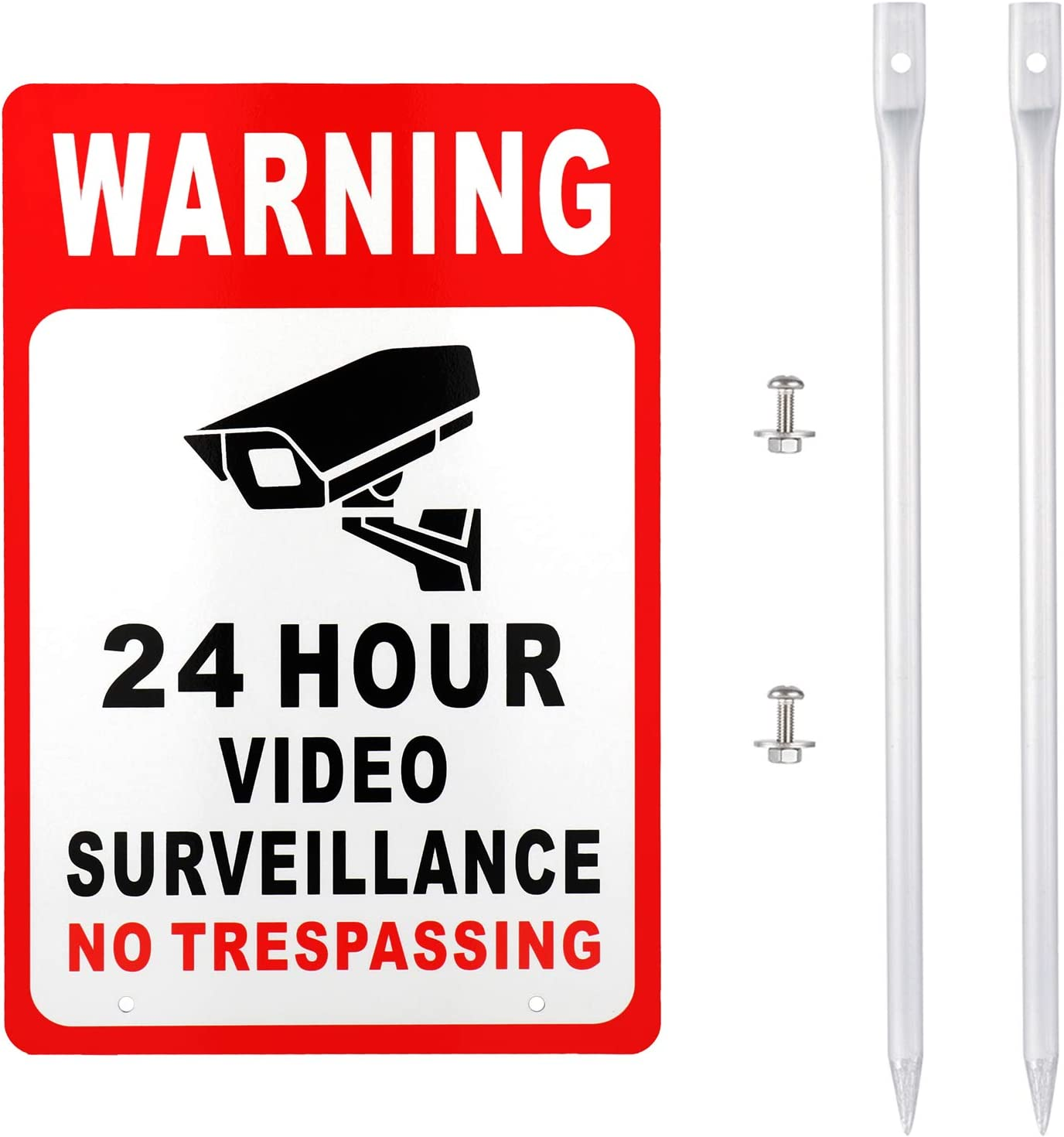 Amazon.com: Señal de vigilancia de vídeo Kichwit sin brillos ...