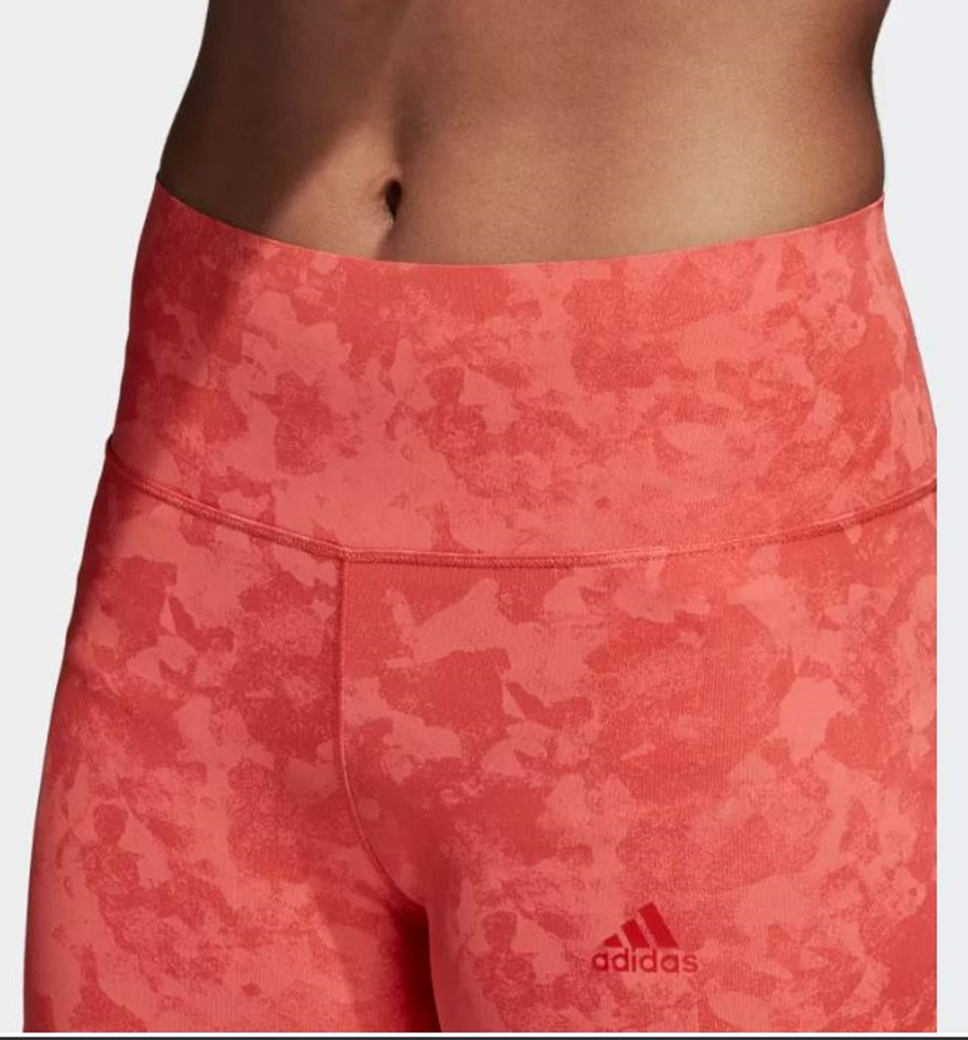adidas Women's Climalite Ultimate High Rise Printed Long Tights, Trace Scarlet/Print, Small by adidas (Image #8)