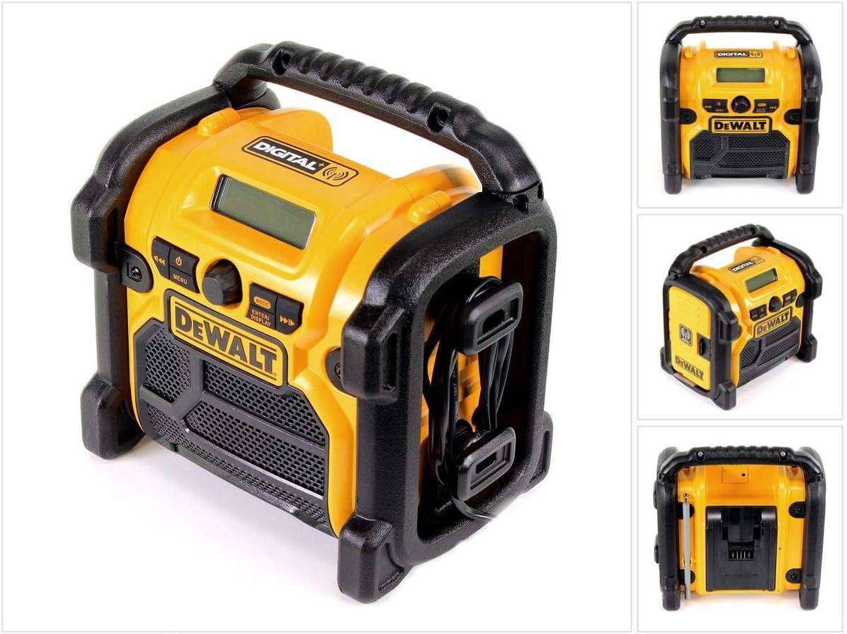 non livr/ée 18/V DeWalt Radio num/érique FM//AM Radio de chantier avec batterie DCR020-QW 10,8 V