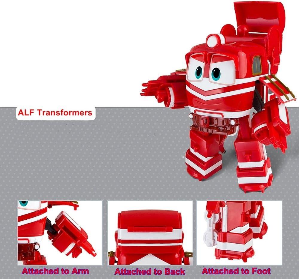 """Niño Niños Personajes de animación /""""alf/"""" Juguete coreano /""""Tren/"""" Transformer Robot.."""