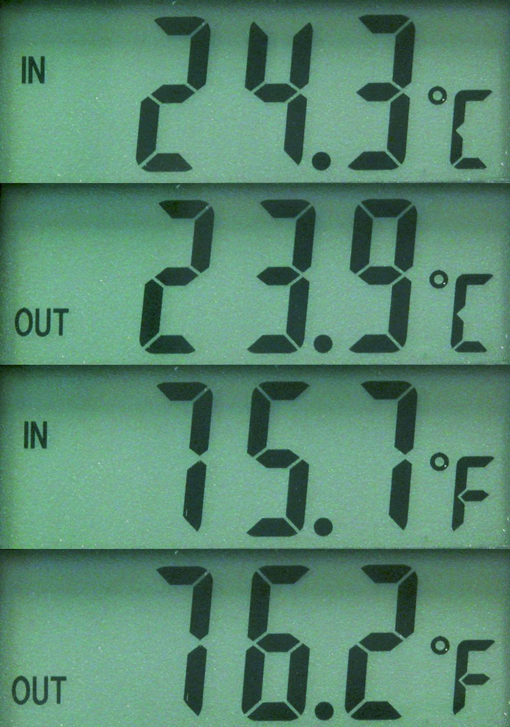 Carpoint 1121211 Thermometer In// Outside Black
