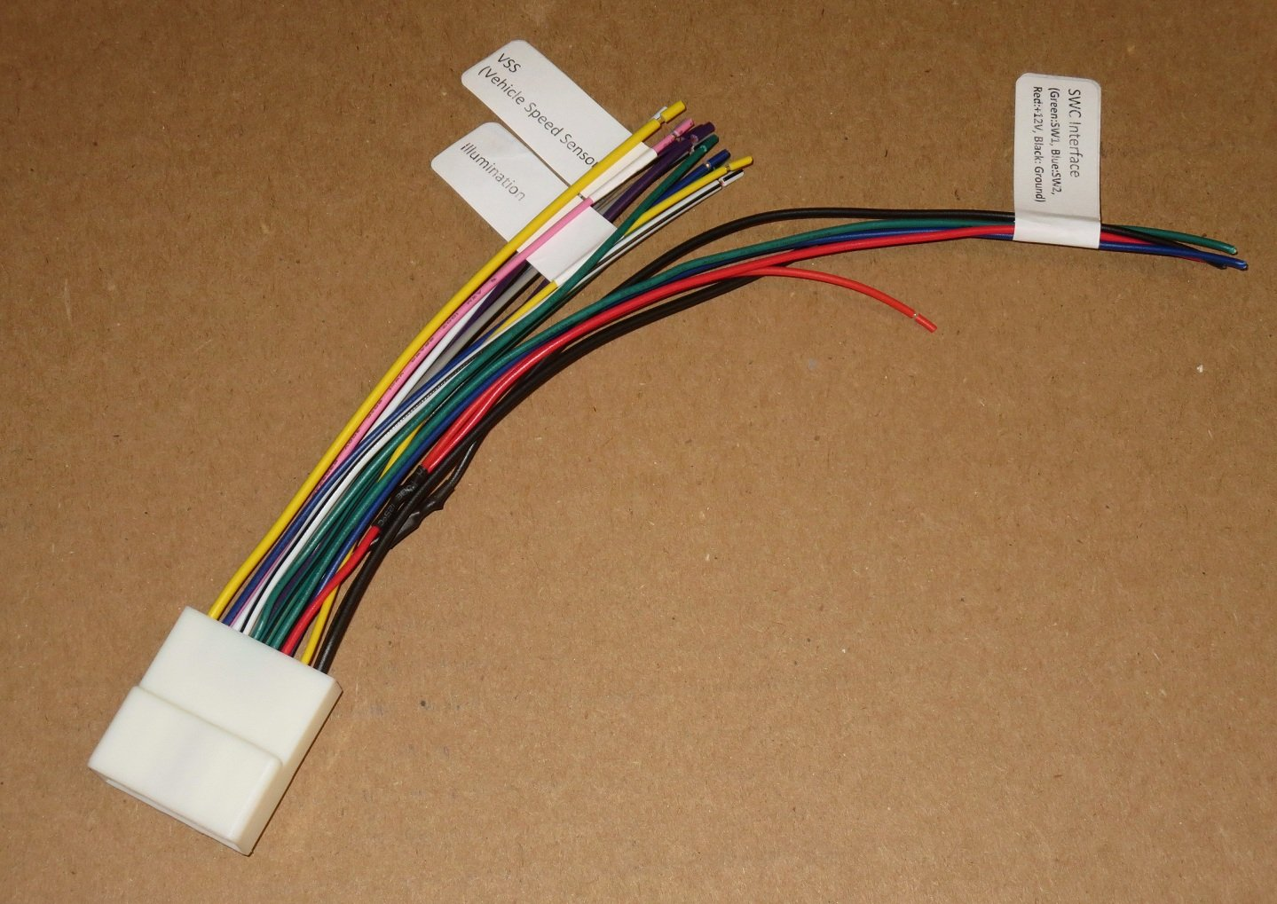 71h641X7AZL._SL1439_ amazon com xtenzi harness for pyle 24 pin wire harness power plug pyle plts76du wiring harness at readyjetset.co