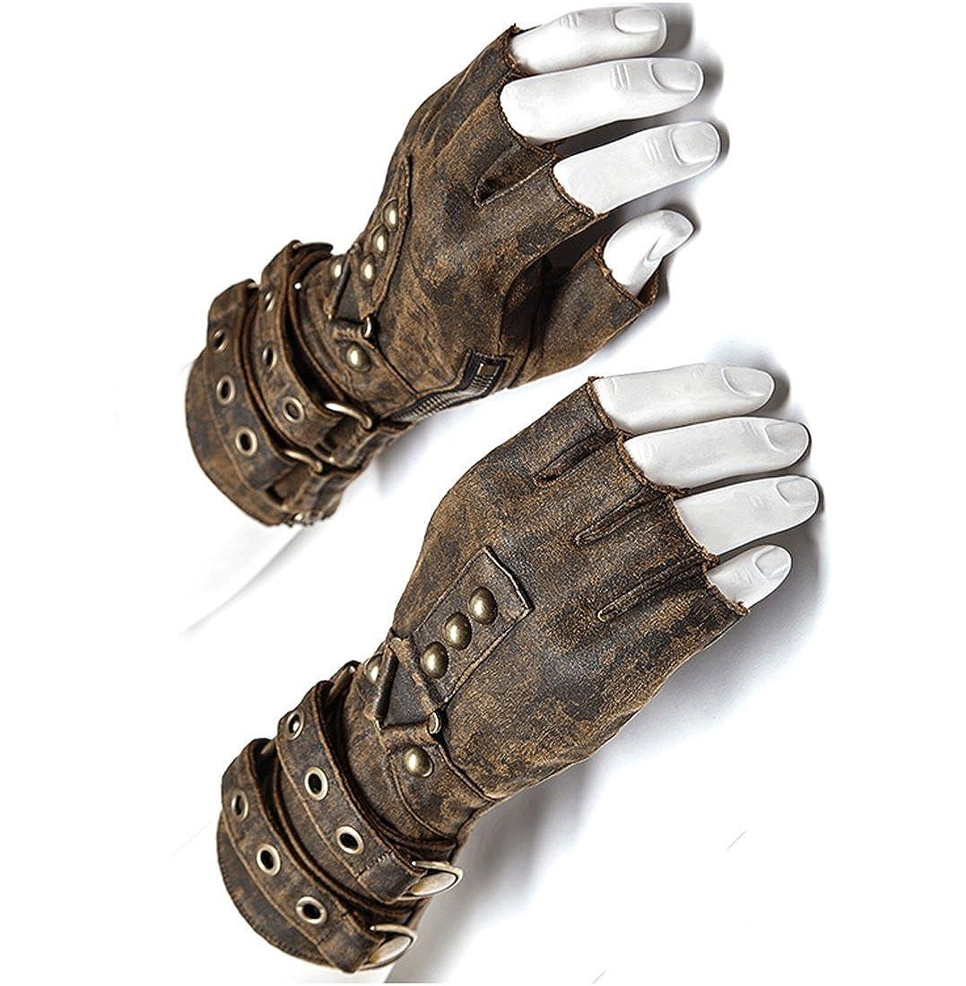 Steampunk Fingerless Gloves Mens