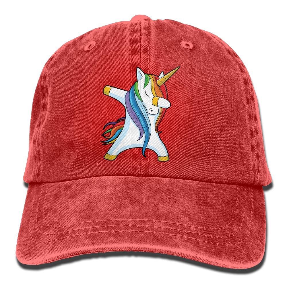 Men's Or Women's Dabbing Unicorn Denim Jeanet Baseball Hat Adjustable Trucker Cap