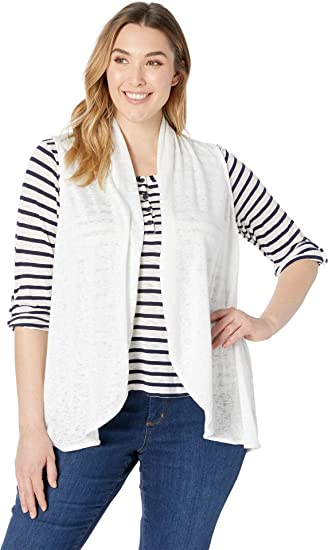 4535c08c98f84 B Collection by Bobeau Womens Plus Size Kori Shawl Collar Vest at Amazon Women s  Clothing store