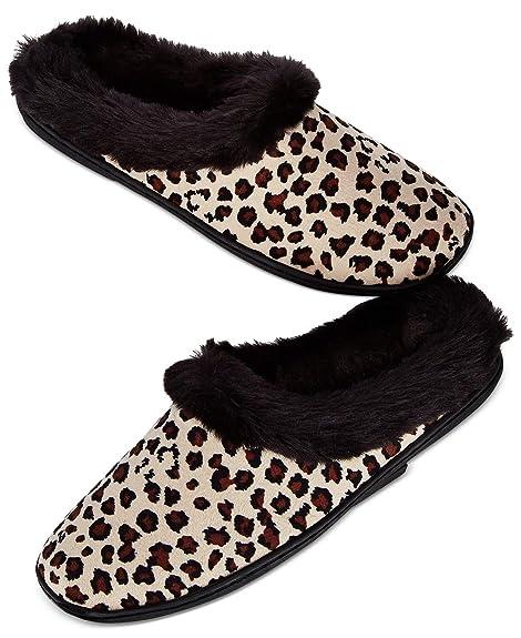 53d3f28d6e7 Charter Club Womens Microvelour Clog Memory Foam Slippers Leopard