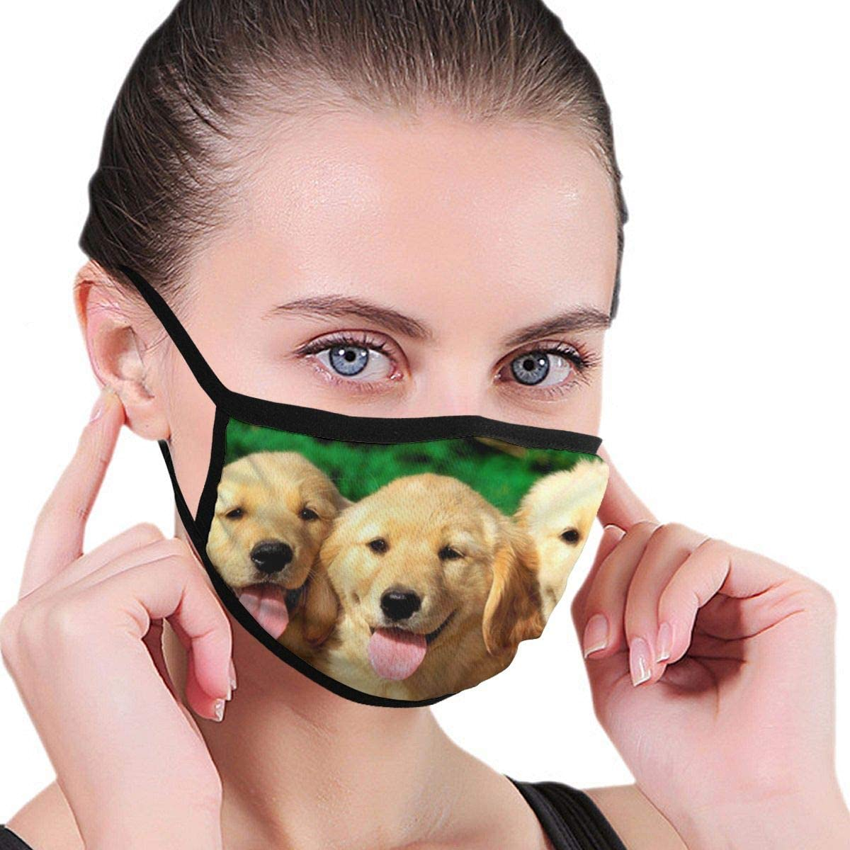 Dog Summer Neck Gaiters For Men Women Novelty Bandanas Hallowen Thanksgiving Gift Black