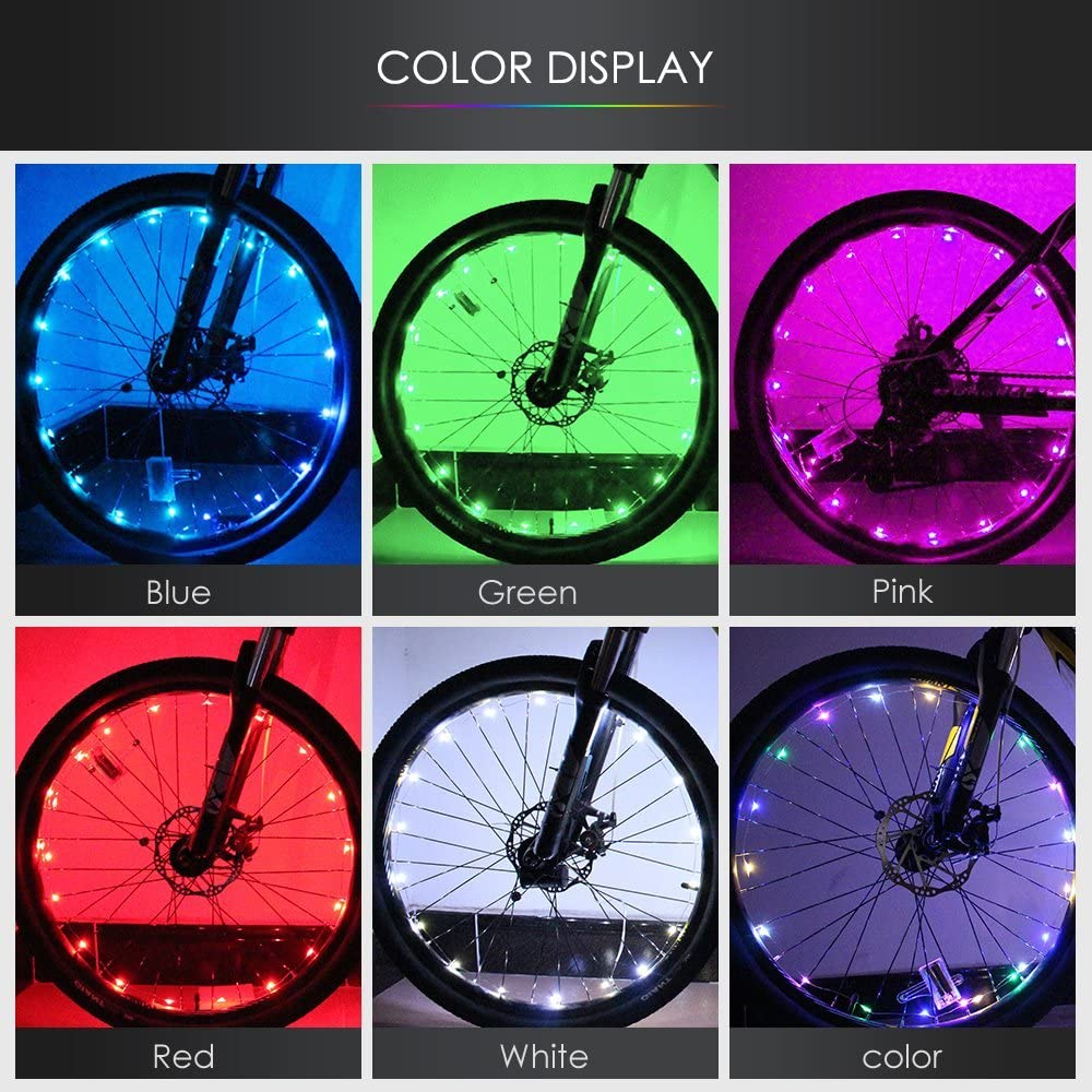 Candy Colors LED Bright Light Lamp For Bikes Bicycle Spoke Wire Tire Tyre Wheel