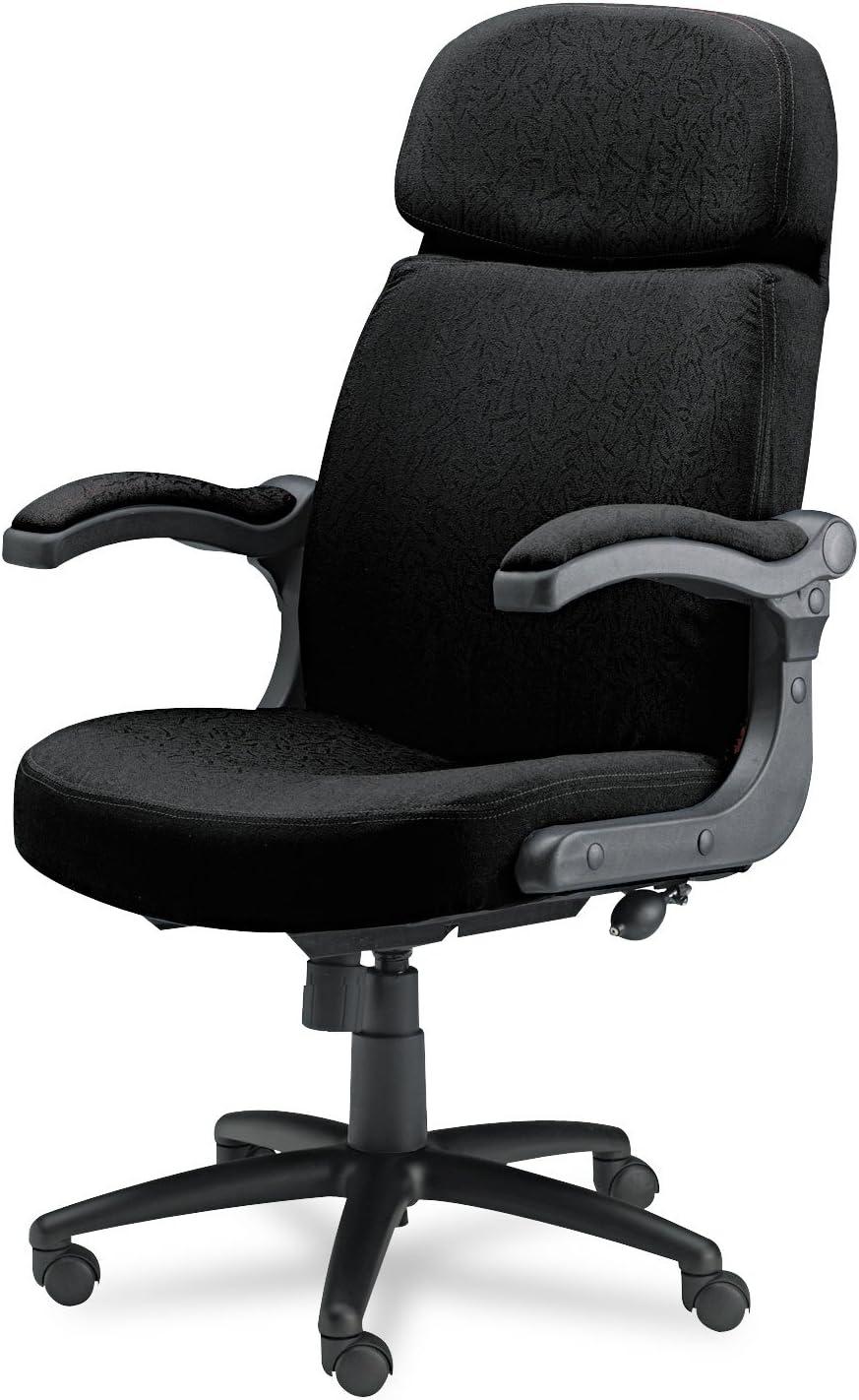 Mayline Big Tall Pivot Arm Chair Black Fabric